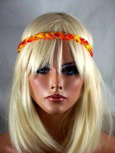 FESTIVAL ELASTIC STRETCH HEADBAND HAIR BAND TIE DYE CHAIN BOHO HIPPIE HEAD PIECE #fashionjewelry #Headbands