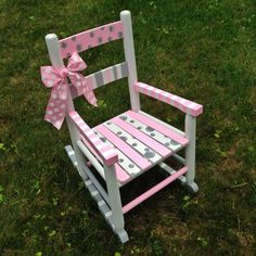 Handpainted Rocking Chair Nursery Decor by ThePurpleGoat on Etsy