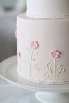 liz and marcel's wedding cake- side by hello naomi, via Flickr