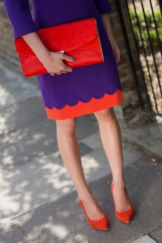 Colour blocking in @Ted Lee Baker for the latest edition of LPA Styles It