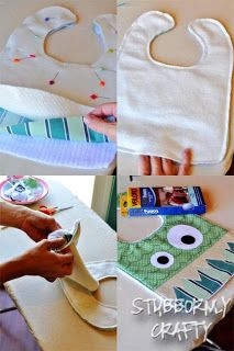 Monster Bib tutorial and free pattern.