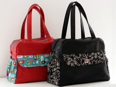 Patron de sac à langer Boogie en Français par là : http://sacotin.com/boutique/patron-sac-boogie/ - Diaper bag pattern coming soon in English.