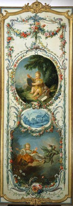 François Boucher (1703 - 1770) Les Arts et des Sciences: comédie et la tragédie, 1750-1752 huile sur toile © La Frick Collection Madame de Pompadour, Château de Crécy