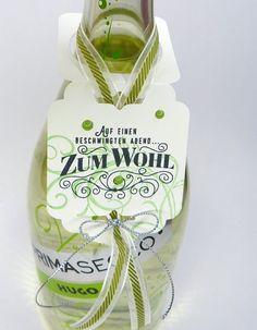 Stempelitis, Flaschenanhänger, Nette Etiketten, Stampin up Stempelset und Frameltis