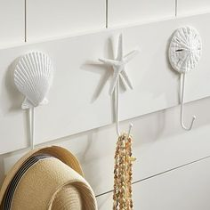 Surf Hooks #potterybarnteen @Laura Gachewicz always think of you when i see cute beach decor!