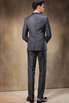 Fashion Groom Suits Men Business Suits Formal Occasion Mens Tuxedos The Groom Wedding Party Suits Jacket+Pants Mens Wedding Tuxedos Style Mens White Tuxedos From Easyshop_2009, $87.84| Dhgate.Com