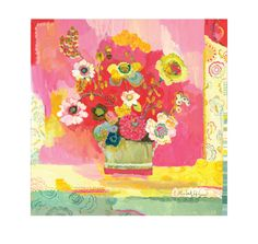 Lime Glory Giclee Canvas Print by Kimberly by GoldfishMarmalade, $53.00