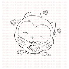 Owl You Need Is Love Digital Stamp by 2CuteInk on Etsy, $3.00