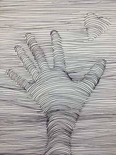 Op-Art - rather than a valentine, have students brainstorm a dream or goal and create a symbol for that to replace the heart. (they are reaching for their goal- much more meaningful)