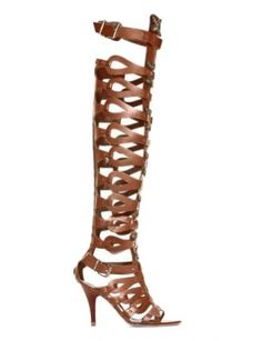 PARIS Knee High Gladiator Sandals |Brown| In Shoes| JESSICABUURMAN [5980] - $169.00 : JESSICABUURMAN.COM