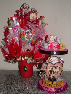 EVER AFTER HIGH Candy Bouquet Centerpiece w/ by CandyFlorist