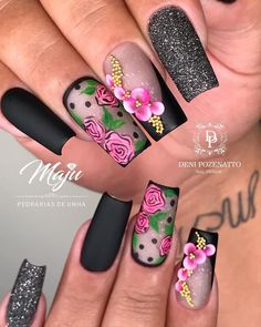 Unhas decoradas в 2019 г. Aycrlic Nails, Stiletto Nails, Cute Nails, Pretty Nails, Diy Nail Designs, Acrylic Nail Designs, Karma Nails, Luxury Nails, Beautiful Nail Designs