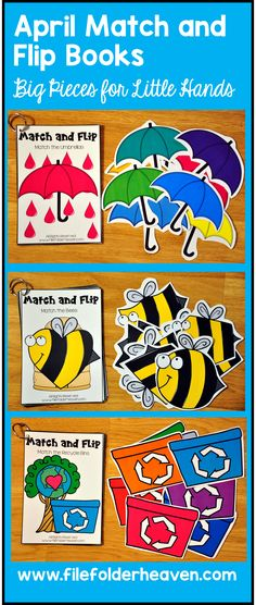 These Matching Activities: April Match and Flip Books focus on basic matching…