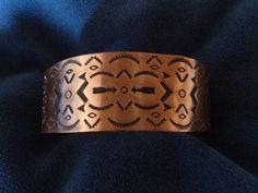Vintage Native American Copper Cuff Bracelet by Tessey2 on Etsy, $45.00