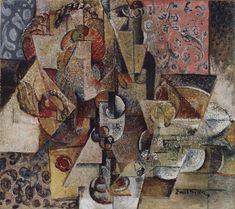 Emil Filla (Czech 1882–1953) [Cubism, Modernism, Osma] Basket with fruit, 1916.