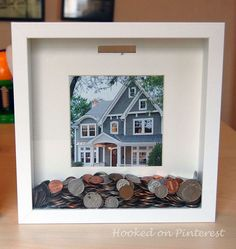 DIY Dream Bank...I will use this to start saving for new windows for our house