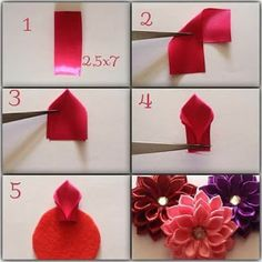 Excellent diy flowers info are available on our internet site. Excellent diy flowers info are available on our internet site. Satin Ribbon Flowers, Cloth Flowers, Ribbon Art, Diy Ribbon, Fabric Ribbon, Ribbon Crafts, Felt Flowers, Flower Crafts, Diy Flowers