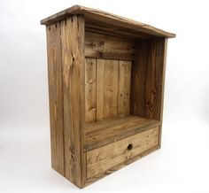 Wall Cabinet with Drawer Pallet Wood Wall Cabinet by WileWood