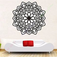 Vinyl Wall Sticker Home Decoration Namaste Om Mandala Ornament Moroccan Pattern…