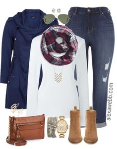 Another easy plus size fall casual outfit featuring this lightweight parka, which I have in grey.  Love it! Shop the Look Plus Size Jacket Earrings Sunglasses (less $ similar) Scarf Chevron Necklace Rings Plus Size T-Shirt Crossbody Bag Wrap Bracelet Watch Plus Size Jeans Ankles Booties (less $ similar, wide width alternative) For more outfit inspiration check out myPolyvore… Read More