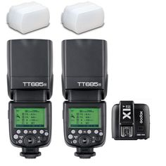 2* Godox TT685N 2.4G wireless 1/8000s i-TTL GN60 Flash + X1T-N Trigger for Nikon #Godox