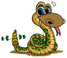 Sneaky snake Embroidery design - Machine Embroidery Designs