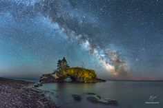 The Milky Way of Hollow Rock - After days of paying close attention to weather models, studying maps, and patterns of the Milky Way I knew I was going to have a 12 day window. I decided to pull the trigger and attempt to bring to life one of the photos I had a vision of.   Just 15 minutes from the Canadian border off the coast of Minnesota nestles a sea stack the locals call Hollow Rock. I had a vision of the Milky Way rising over the rock arcing over Lake Superior. Commanding the sky and…