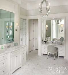 Marble bathroom/Atlanta Homes Mag