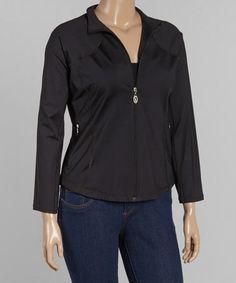 Look at this #zulilyfind! Black Zip-Up Jacket - Plus #zulilyfinds