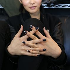 Jin Soon's thoroughly modern French mani at Tess Giberson #NYFW