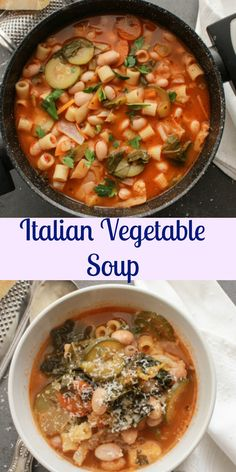 Italian Vegetable Soup, a delicious good for you full of veggies soup recipe, fast, easy,vegan and vegetarian the perfect comfort food soup. anitalianinmykitchen.com