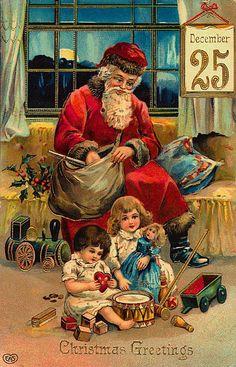 saint nicolas - Page 4 Vintage Christmas Images, Victorian Christmas, Vintage Holiday, Christmas Pictures, Old Time Christmas, Christmas Scenes, Christmas Art, Father Christmas, Xmas