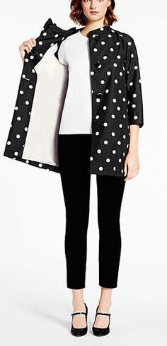 Polka dot coat by kate spade new york