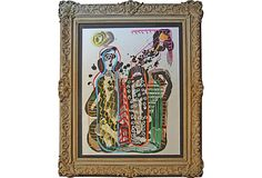 Untitled Abstract attributed to Murray Harntman / Rococo Revival Wood Frame