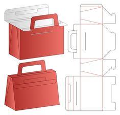 Premium Vector | Box packaging die cut template design. 3d Restaurant Flyer, Modern Restaurant, Box Packaging, Packaging Design, Disney Paper Dolls, Paper Box Template, Paper Purse, Gift Wraping, Bag Mockup