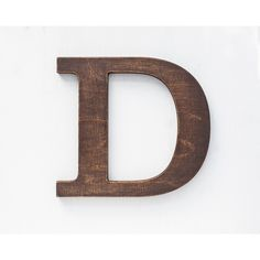 Wooden letters vintage decorative letter for wall stained brown home... ($18) ❤ liked on Polyvore featuring home, home decor, wood home decor, vintage home accessories, wooden home decor, vintage home decor and brown home decor