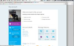 Skype Account Page. Hack me up.