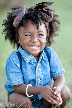 Adorable little girl in blue #denim