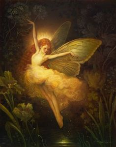 "This artwork, based off of Annie Stegg Gerard's original oil painting ""Tinkerbell "", is professionally printed on a heavy stock semi gloss card stock paper. Paper size: 11x14 The artwork comes packaged in a re-sealable clear plastic sleeve, and is shipped in a cardboard photo"