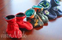 Tutorial for Kids Fleece Slippers