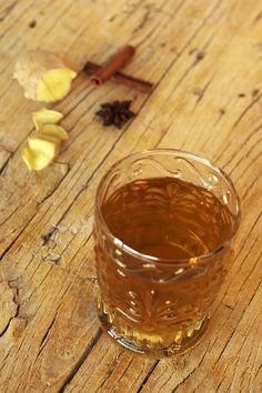 Chá de gengibre com especiarias