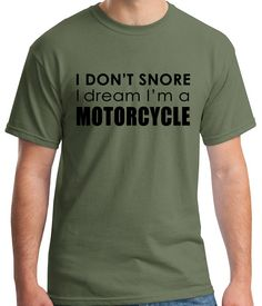 Dream in Motorcycle husband humor boyfriend by Ravenchicstudio