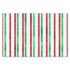 #stripes - #Red and Green Watercolor Stripes Tissue Paper