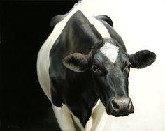 Galerie Lieve Hemel, Amsterdam - Exhibition 2011 - Alexandra Klimas Cow Photos, Holstein Cows, Happy Cow, Cow Painting, Cow Art, High Art, Wildlife Art, Belle Photo, Pet Portraits