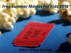 Free or Cheap Summer Movies for Kids in 2013