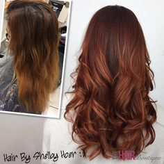 Stunning rich auburn to copper colour melt by Shelby Hoer