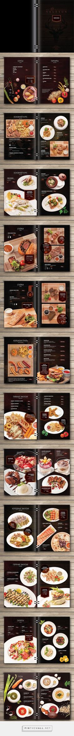 Menu for restaurant by Ann Reus:
