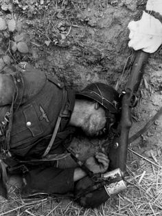 Ww2 • German soldier fatality.
