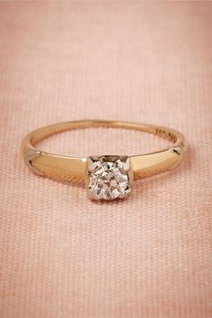 Deco Diamond Ring from BHLDN. Vintage from the 1930s-1940s
