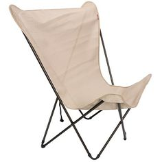 Lafuma Maxi Pop Up Folding Chair   Polyester Polyvinyl In Ficelle/Marron  Brown